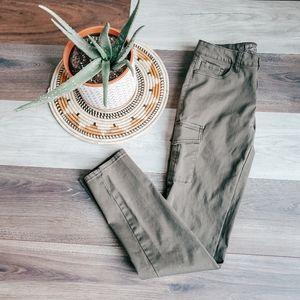Wax jeans cargo pants